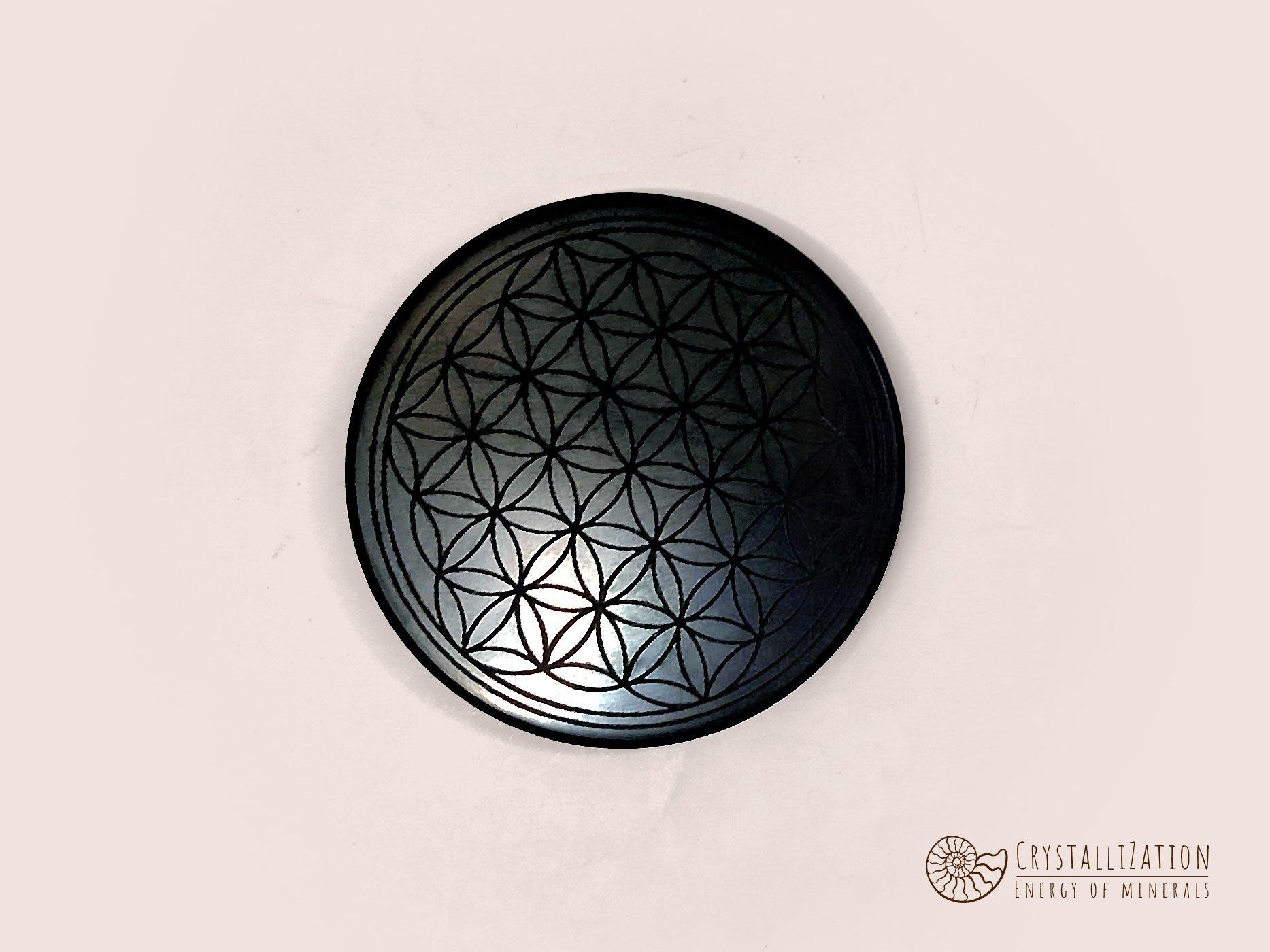 Пластинка для мобильного телефона из шунгита