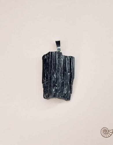 Черный турмалин подвеска