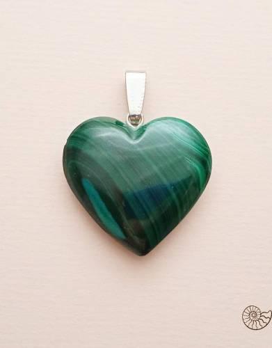 Подвеска малахит сердце